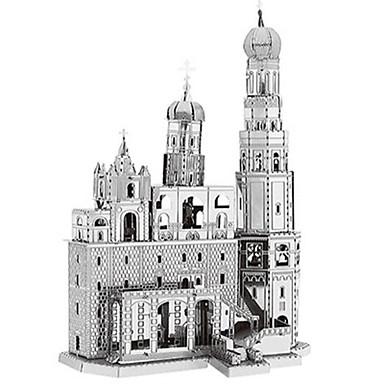 Jucării pentru mașini Puzzle 3D Puzzle Rezervor Castel Clădire celebru Reparații Metalic Aluminiu Clasic Pentru copii Bărbați Băieți Cadou