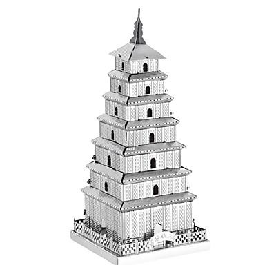 3D-puzzels Legpuzzel Metalen puzzels Speeltjes Rechthoekig Toren Beroemd gebouw Architectuur 3D Aluminium Metaal Niet gespecificeerd