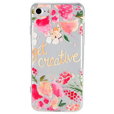 Fall für Apfel iphone 7 plus 7cover Muster zurück Abdeckung Fall Wort Phrase Blume weichen tpu 6s plus 6 plus 6 6s