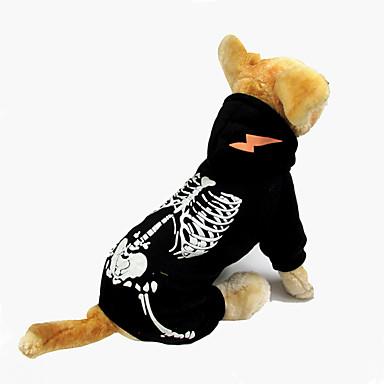 Câine Salopete Îmbrăcăminte Câini Cranii Negru Rosu Bumbac Costume Pentru animale de companie Halloween