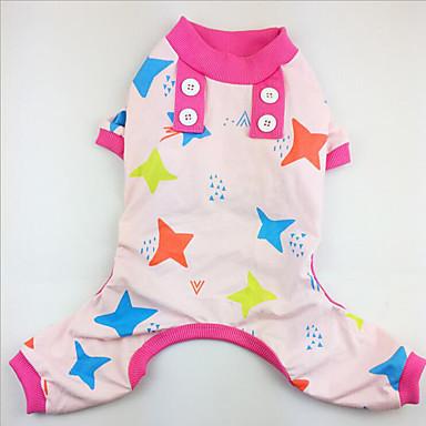 Hond Pyjama Hondenkleding Sterren Groen Blauw Roze Katoen Kostuum Voor huisdieren Heren Dames Casual/Dagelijks