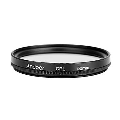 Andoer 52mm digital slim cpl circular polarizator filtru de sticlă polarizant pentru canon nikon sony dslr obiectiv camera