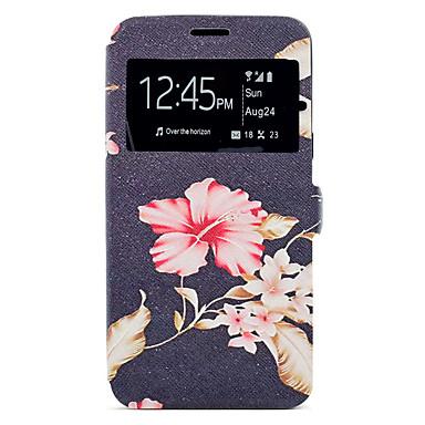 Hülle Für Samsung Galaxy J7 (2016) J5 (2016) Kreditkartenfächer mit Halterung Muster Ganzkörper-Gehäuse Blume Hart PU-Leder für J7 (2016)