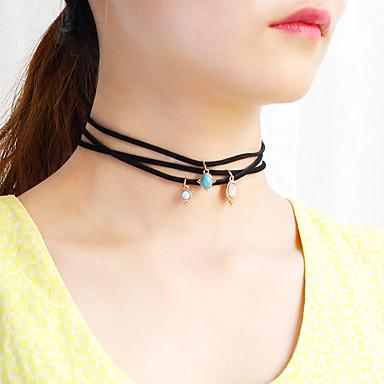 Pentru femei Floral Design Unic Stil Atârnat Coliere Choker Coliere cu Pandativ Lănțișoare Bijuterii Nailon Coliere Choker Coliere cu
