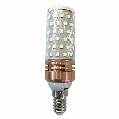 15W 700-800lm E14 LED Mais-Birnen T 78 LED-Perlen SMD 2835 Warmes Weiß / Weiß 220V