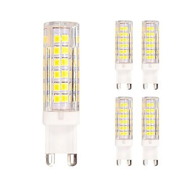 5 stuks 4.5W 400lm G9 2-pins LED-lampen T 75 LED-kralen SMD 2835 Warm wit Koel wit 220-240V