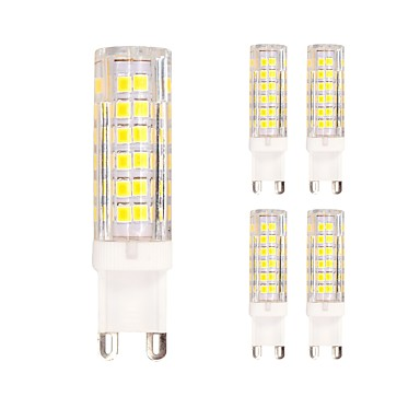 5pcs 4.5W 400 lm G9 أضواء LED Bi Pin T 75 الأضواء SMD 2835 أبيض دافئ أبيض كول أس 220-240V