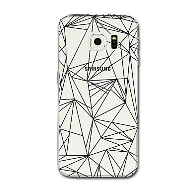 Недорогие Чехлы и кейсы для Galaxy S6 Edge-Кейс для Назначение SSamsung Galaxy S8 Plus / S8 Прозрачный / С узором Кейс на заднюю панель Полосы / волосы / Геометрический рисунок Мягкий ТПУ для S8 Plus / S8 / S7 edge