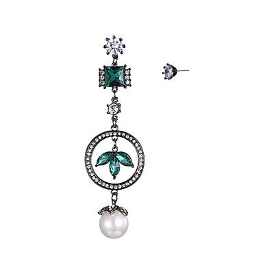 Dames Druppel oorbellen Parel Luxe Bohémien wanverhouding Nep Met de Hand Gemaakt leuke Style Double Pearl zijdelings Stretch Organisch