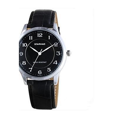 Dames Modieus horloge Kwarts Leer Band Informeel Zwart Bruin