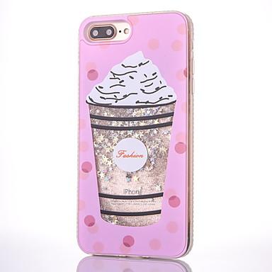 Voor Hoesje cover Stromende vloeistof Patroon Achterkantje hoesje Voedsel Glitterglans Hard PC voor Apple iPhone 7 Plus iPhone 7 iPhone