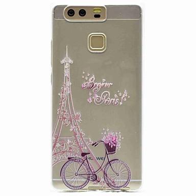 Voor Hoesje cover Patroon Achterkantje hoesje Eiffeltoren Zacht TPU voor HuaweiHuawei P9 Huawei P9 Lite Huawei P8 Huawei P8 Lite Huawei