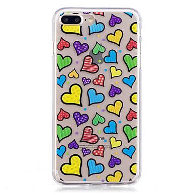 Hülle Für Apple iPhone 7 Plus iPhone 7 IMD Muster Rückseite Herz Weich TPU für iPhone 7 Plus iPhone 7 iPhone 6s Plus iPhone 6s iPhone 6