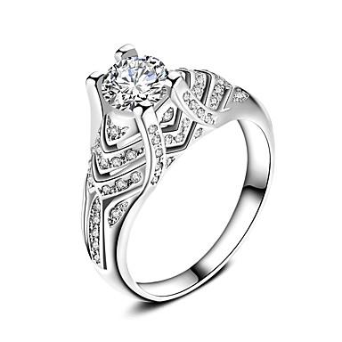Dames Ring Sieraden Cirkelvormig ontwerp Klassiek Cirkel Vriendschap Eenvoudige Stijl Euramerican Verzilverd Rond Sieraden Bruiloft