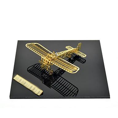 قطع تركيب3D تركيب معدني مجموعات البناء طيارة 3D اصنع بنفسك كروم معدن كلاسيكي للأطفال للبالغين فتيات صبيان للجنسين هدية