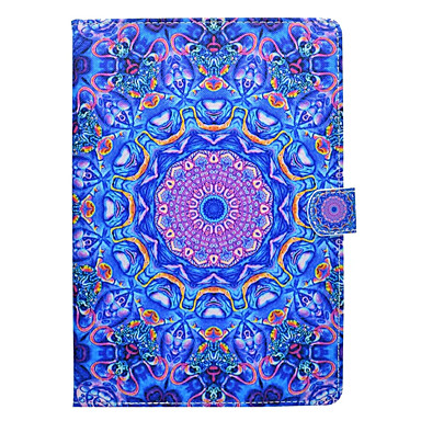 Maska Pentru Apple iPad Mini 4 iPad Mini 3/2/1 iPad 4/3/2 iPad Air 2 iPad Air Titluar Card Cu Stand Model Carcasă Telefon Mandala Greu PU