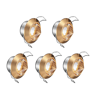 Verzonken lampen Warm wit Kristal LED 5 stuks