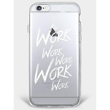 Caz iphone 7 plus iphone 6 cuvânt / frază model telefon shell moale pentru iphone 7 iphone6 / 6s plus iphone6 / 6s iphone5 5s se