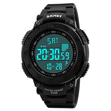 SKMEI Herrn Quartz Digitaluhr Armbanduhr Militäruhr Sportuhr Japanisch Alarm Kalender Wasserdicht LED Schrittzähler Großes Ziffernblatt