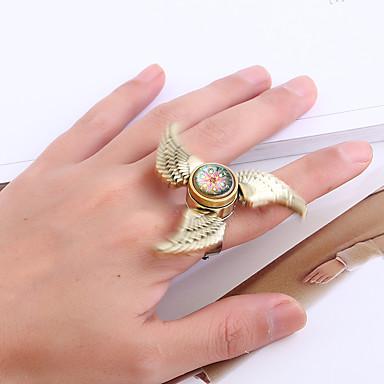 للمرأة خواتم بيان الاصطناعية العقيق تصميم فريد قديم euramerican في سبائك الزنك أجنحة مجوهرات من أجل هدية فضفاض