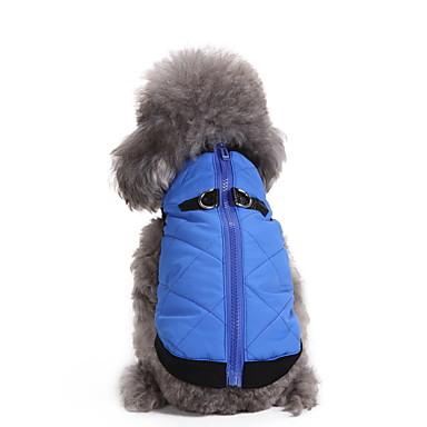Hond Jassen Hondenkleding Houd Warm Effen Oranje Rood Blauw