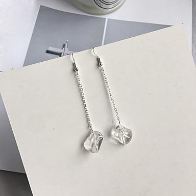 Dames Druppel oorbellen - Modieus Zilver epäsäännöllinen oorbellen Voor Dagelijks