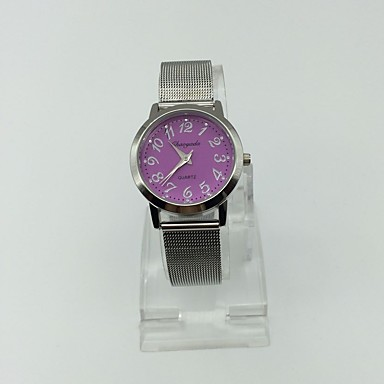 Dames Polshorloge Modieus horloge Dress horloge Kwarts Metaal Band Zilver