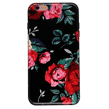 Hoesje voor iphone 7 6 bloem tpu zacht ultra-dun behuizing hoesje iphone 7 plus 6 6s plus se 5s 5 5c 4s 4