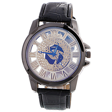 Herrn Einzigartige kreative Uhr Armbanduhr Modeuhr Sportuhr Armbanduhren für den Alltag Quartz Schlussverkauf Leder Stoff Band Charme