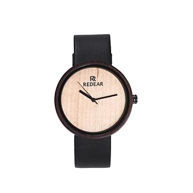 Pentru femei Ceas La Modă Ceas Lemn Japoneză Quartz de lemn PU Bandă Charm Elegant Negru