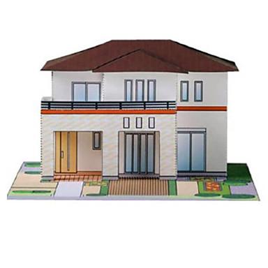 Puzzle 3D Lucru Manual Din Hârtie Pătrat Clădire celebru Casă Arhitectură 3D Reparații Hârtie Rigidă pentru Felicitări toate vârstele