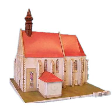 3D-puzzels Papierkunst Speeltjes Windmolen Beroemd gebouw Huis Kerk (83 Architectuur 3D DHZ Hard Kaart Paper Unisex Stuks