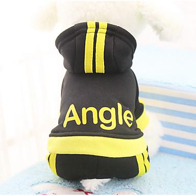 Pisici Câine Haine Hanorace cu Glugă Salopete Pantaloni Îmbrăcăminte Câini Casul/Zilnic Keep Warm Sport Literă & Număr Negru Fucsia