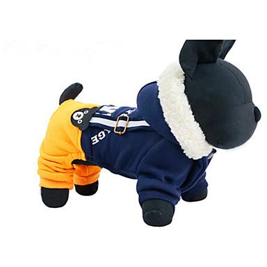 Câine Hamuri Îmbrăcăminte Câini Casul/Zilnic Literă & Număr Albastru Închis Galben Costume Pentru animale de companie