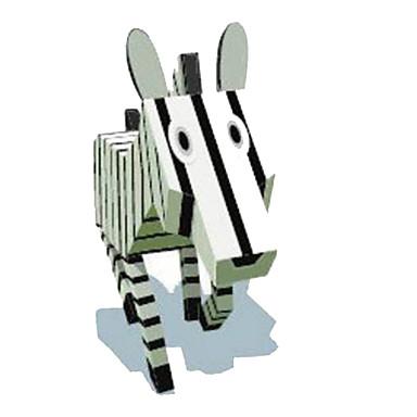 Puzzle 3D Modelul de hârtie Lucru Manual Din Hârtie Μοντέλα και κιτ δόμησης Pătrat Cai Zebră 3D Animale Reparații Clasic Desen animat