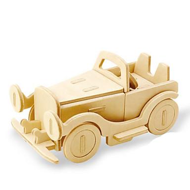 لعبة سيارات قطع تركيب3D تركيب النماذج الخشبية ديناصور دبابة طيارة شاحنة 3D الحيوانات اصنع بنفسك خشب كلاسيكي للجنسين هدية