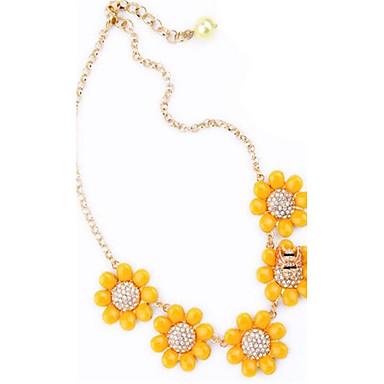 Pentru femei Lănțișoare Ștras Flower Shape Aliaj Personalizat Modă Ajustabile Cute Stil Bijuterii Pentru Petrecere Alte Concediu Ieșire