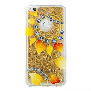 Voor huawei p9 lite p8 lite case cover bloem patroon flash poeder quicksand tpu materiaal telefoon hoesje p8 lite (2017)