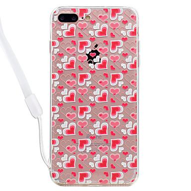 غطاء من أجل Apple شفاف نموذج غطاء خلفي قرميدة قلب قاسي أكريليك(Acrylic) إلى فون 7 زائد فون 7 iPhone 6s Plus iPhone 6 Plus iPhone 6s أيفون