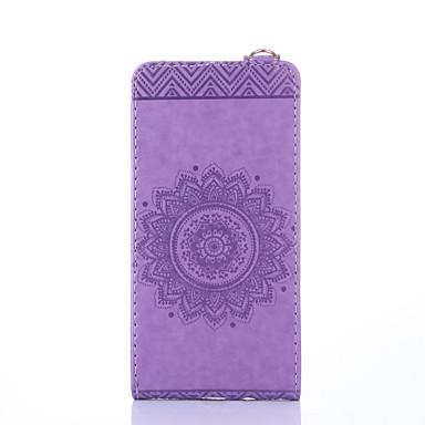Hülle Für Samsung Galaxy J7 Prime J5 Prime Kreditkartenfächer mit Halterung Flipbare Hülle Geprägt Ganzkörper-Gehäuse Volltonfarbe Blume
