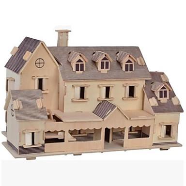 قطع تركيب3D تركيب تركيب خشبي مجموعات البناء الخشب نموذج ألعاب بناء مشهور بيت معمارية Other 3D اصنع بنفسك خشب الخشب الطبيعي غير محدد قطع