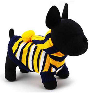 Câine Pulovere Hanorace cu Glugă Îmbrăcăminte Câini Dungi Galben Rosu Albastru Roz Bumbac Jos Costume Pentru animale de companie Bărbați