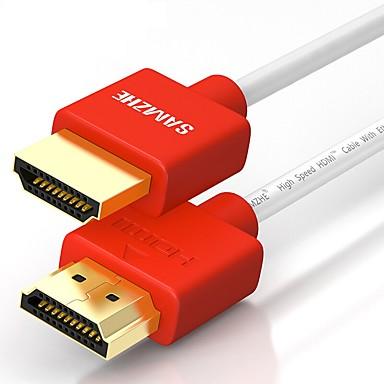 HDMI 2.0 كابل, HDMI 2.0 to HDMI 2.0 كابل ذكر- ذكر النحاس المطلي بالذهب 0.5M (1.5Ft)