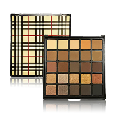 25 Lidschattenpalette Trocken Matt Schimmer Mineral Lidschatten-Palette Feen Makeup Smokey Makeup Alltag Make-up Party Make-up