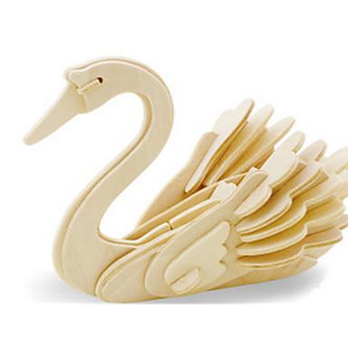 Puzzle 3D Puzzle Modele de Lemn Dinosaur Aeronavă Lebădă Animal 3D Reparații De lemn Lemn Clasic Pentru copii Unisex Cadou