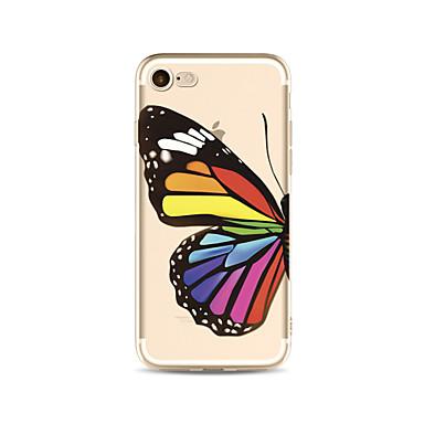 Hülle Für Apple iPhone X iPhone 8 Plus Transparent Muster Rückseite Schmetterling Weich TPU für iPhone X iPhone 8 Plus iPhone 8 iPhone 7