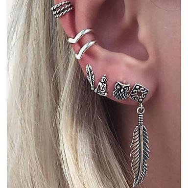 Dames Clip oorbellen Bohémien Legering Bladvorm Sieraden Zilver Dagelijks Kostuum juwelen