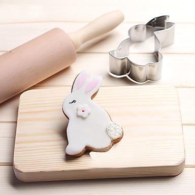 1 Cookie Tools Rabbit Dieren cartoon Shaped Brood Koekje Taart voor Kaas voor Candy voor Sandwich Roestvast staalKerstmis Bruiloft