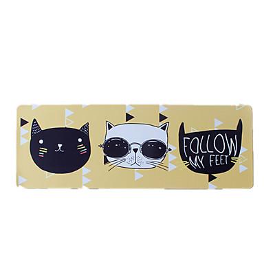 Coole Katze Mausunterlage wasserdichte Karikaturart Tuchspielmausunterlage 40cm * 90cm