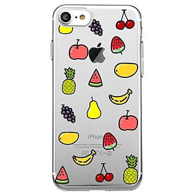 Maska Pentru Apple Transparent Model Carcasă Spate Desene Animate Fruct Moale TPU pentru iPhone 7 Plus iPhone 7 iPhone 6s Plus iPhone 6